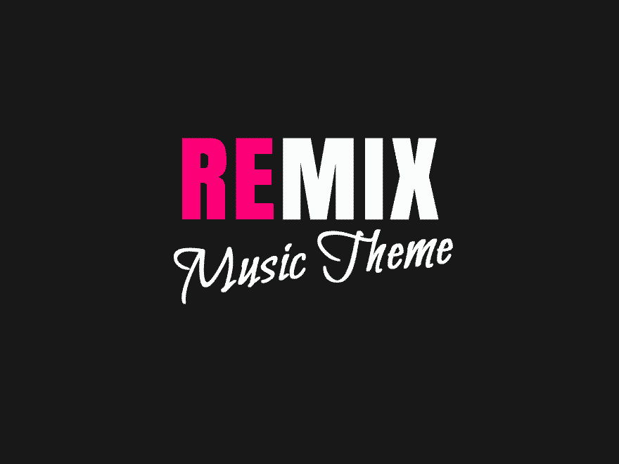 Remix - Music Band Club Party Event WP Theme